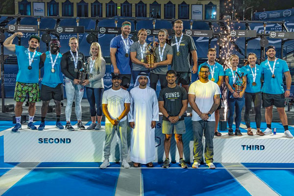 Dubai CrossFit Championship podium teams