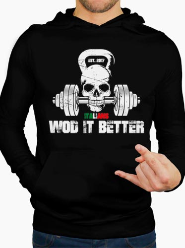 shop italians wod it better felpa uomo cappuccio logo classic