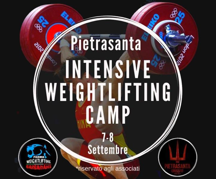 weightlifting camp pietrasanta
