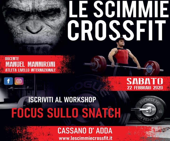 focus sullo snatch crossfit workshop italia 2020