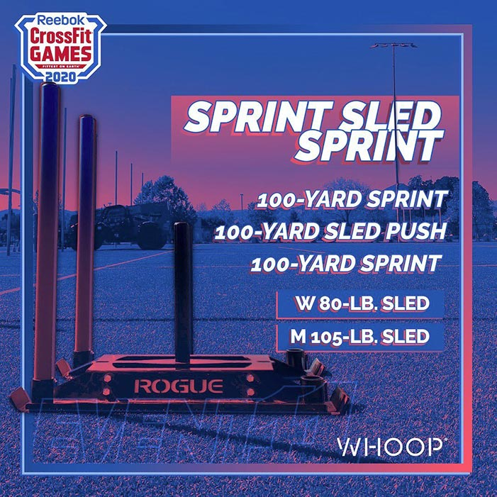 evento crossfit games 2020 sprint sled sprint