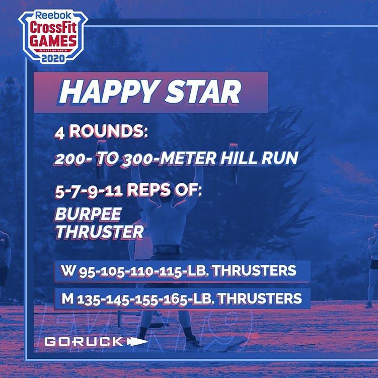 happy star giorno 2 crossfit games 2020