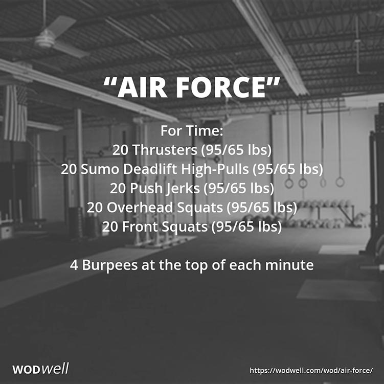 wod air force thrusters
