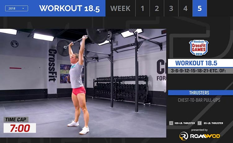 Open workout 18.5 con thruster