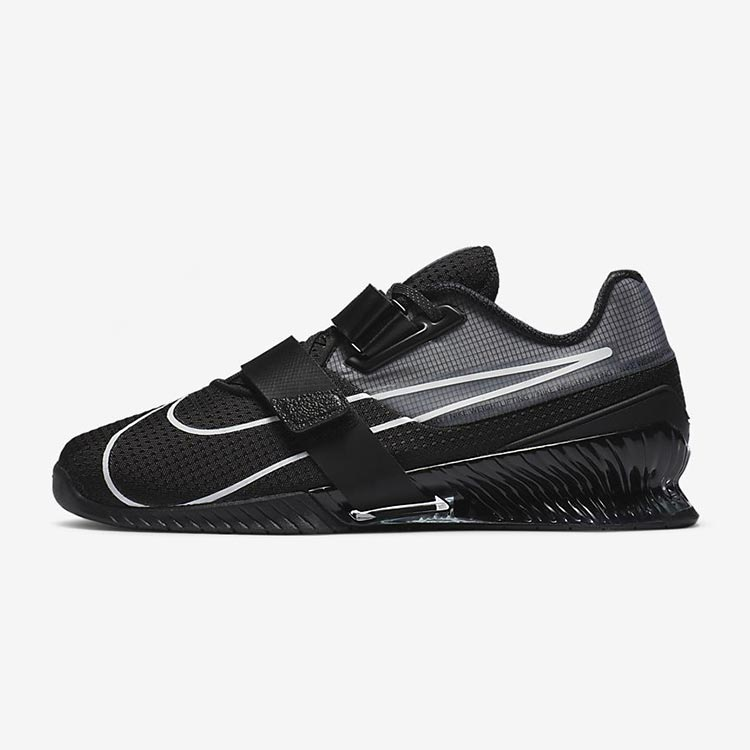 vista laterale nike romaleos 4 black