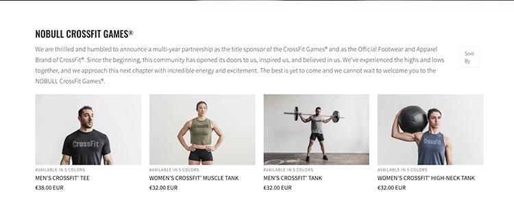 nobull title sponsor crossfit Games